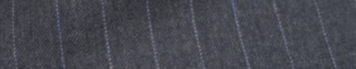 【Ckb_w155】ミディアムグレー+1.3cm巾パープルストライプ
