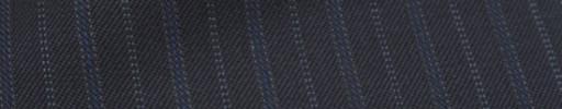 【Ckb_w176】ダークネイビー+1.5cm巾ブルー・ドット交互ストライプ