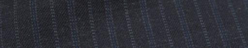 【Ckb_w177】チャコールグレー+1.5cm巾ブルー・ドット交互ストライプ