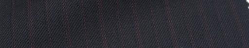 【Ckb_w182】ダークネイビー+1.3cm巾赤交互ストライプ
