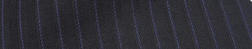 【Ckb_w184】ダークブラウンヘリンボーン柄+7ミリ巾パープルストライプ