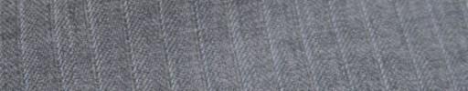 【Ckb_w185】ライトグレーヘリンボーン柄+7ミリ巾白ストライプ
