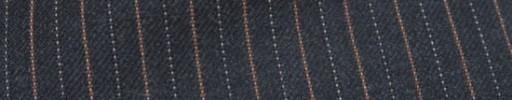 【Ckb_w186】チャコールグレー柄+1cm巾オレンジ・ドット交互ストライプ