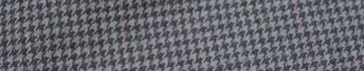 【Ckb_w196】グレー・ライトグレーハウンドトゥース+5×5cmピンクウィンドウペーン