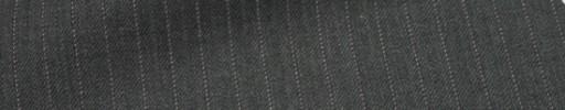 【Cu_6w04】ミディアムグレー+6ミリ巾薄赤・織り交互ストライプ