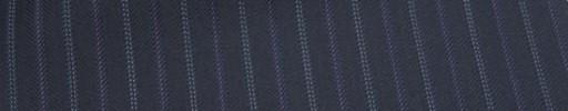 【Cu_6w30】ネイビー柄+1.3cm巾パープル・白Wドット交互ストライプ