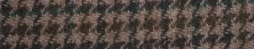 【Ht_6w341】ブラウンミックスガンクラブチェック+4×3cmグリーンウィンドウペーン