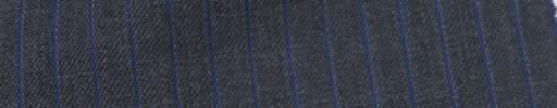 【Ie_6w011】チャコールグレー+7ミリ巾ブルーストライプ