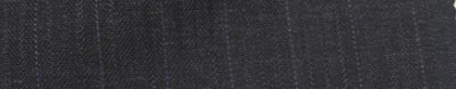 【Ie_6w013】チャコールグレー柄+1.3cm巾パープルドットストライプ