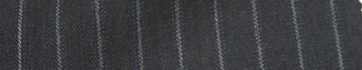 【Ie_6w017】ダークグレー+1cm巾グレー・ブルーストライプ