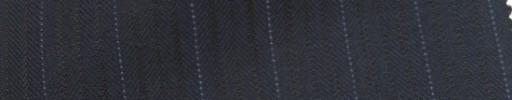 【Ie_6w025】ネイビー織りストライプ柄+1.4cm巾ドットストライプ