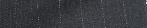【Ie_6w026】チャコールグレー織りストライプ柄+1.4cm巾ドットストライプ