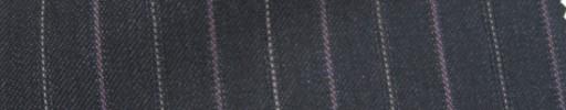 【Ie_6w028】チャコールグレー+1.9cm巾パープル・白交互ストライプ
