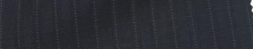 【Ie_6w034】ダークネイビー柄+7ミリ巾ドットストライプ