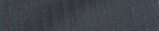 【Ie_6w036】チャコールグレー柄+6ミリ巾ブルーストライプ