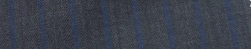 【Ie_6w039】グレーヘリンボーン+1.2cm巾ブルーストライプ