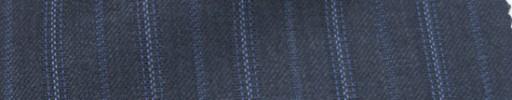 【Ie_6w040】ブルーグレー柄+1.8cm巾ブルー・ドット交互ストライプ