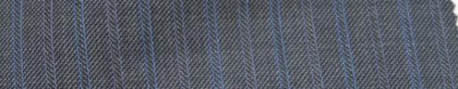 【Ie_6w041】グレー柄+1.3cm巾ブルー・パープル交互ストライプ
