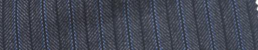【Ie_6w081】チャコールグレーヘリンボーン+1cm巾ブルーストライプ