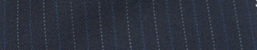 【Ie_6w082】ダークネイビー柄+1cm巾ブルー・白交互ストライプ