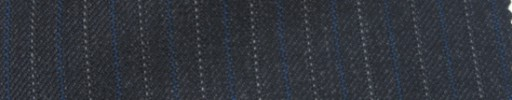 【Ie_6w084】チャコールグレー柄+1cm巾ブルー・白交互ストライプ