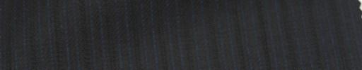 【Ie_6w116】ブラック+6ミリ巾ブルー・織り交互ストライプ