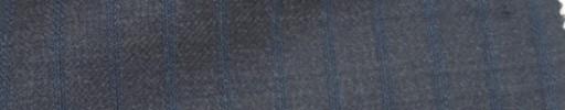 【Ie_6w120】チャコールグレー+9ミリ巾ブルーストライプ