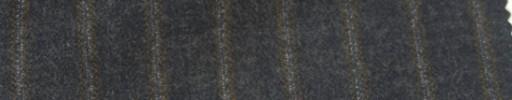 【Ie_6w130】チャコールグレー地+1.2cm巾茶・白ストライプ
