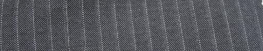 【Mc_6w13】グレー+8ミリ巾白・織りストライプ