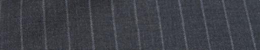 【Mc_6w19】チャコールグレー+1.1cm巾ストライプ