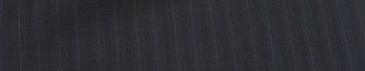 【Mc_6w20】ダークネイビー柄+1.4cm巾オレンジ・ダークブルー交互ストライプ