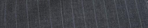 【Mc_6w26】ミディアムグレー柄+1cm巾白・織り交互ストライプ