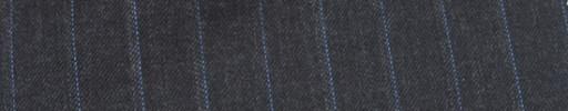 【Mc_6w66】チャコーグレー+1.5cm巾ライトブルー・ドットストライプ
