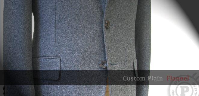 custom plain flannel