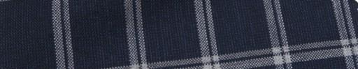【Ca_7s104】ネイビー+3.5×2.5cm白・ネイビープレイド