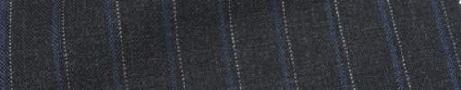 【Ca_7s108】チャコールグレー+1.5cm巾ブルー・ドットストライプ