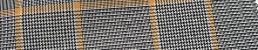 【Ca_7s119】白黒グレンチェック+8×6.5cmオレンジプレイド
