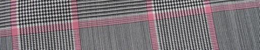 【Ca_7s120】白黒グレンチェック+8×6.5cmピンクプレイド