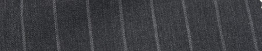 【Ca_7s126】チャコールグレー+1.5cm巾グレーストライプ