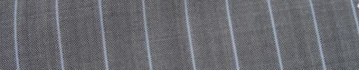 【Ca_7s153】シルバーグレー+1.5cm巾ライトブルーストライプ