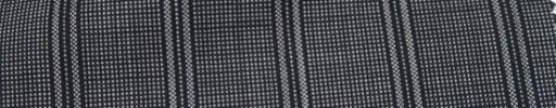 【Ca_7s201】グレー黒ピンチェック柄+2.5cm巾黒ストライプ