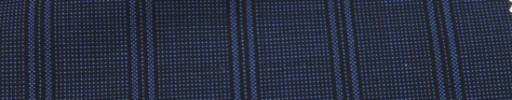 【Ca_7s202】ネイビー黒ピンチェック柄+2.5cm巾黒ストライプ
