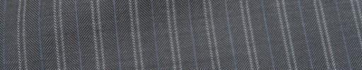 【Ca_7s248】グレー柄+1.4cm巾ライトブルー・W織り交互ストライプ
