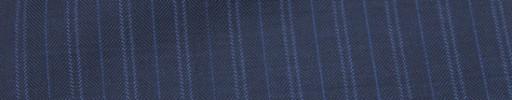 【Ca_7s249】ライトネイビー+1.4cm巾ブルー・W織り交互ストライプ