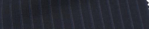 【Cb_Ls56】ネイビー+6ミリ巾ブルー・白ドットストライプ
