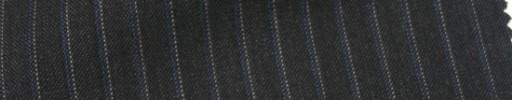 【Cb_Ls57】チャコールグレー+6ミリ巾ブルー・白ドットストライプ