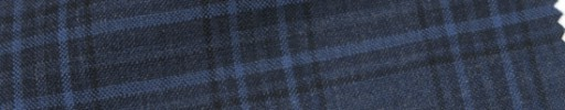 【Cb_Ls58】スモークブルー+5×4cm黒・ライトブルーファンシープレイド
