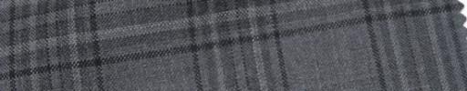 【Cb_Ls59】グレー+5×4cm黒・ライトグレーファンシープレイド
