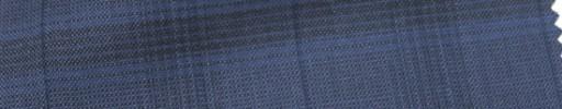 【Cb_Ls80】スモークブルー3.5×4.5cmファンシーチェック+ネイビーストライプ