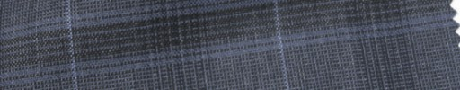 【Cb_Ls81】ブルーグレー3.5×4.5cmファンシーチェック+ライトブルーストライプ
